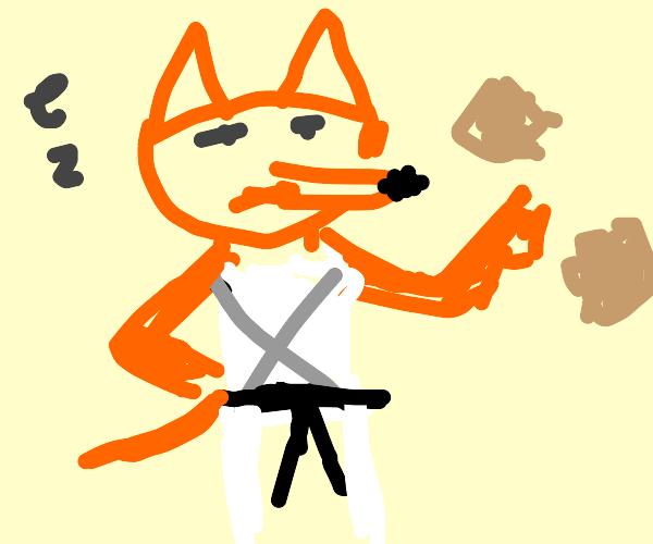 A old master kung-fu fox
