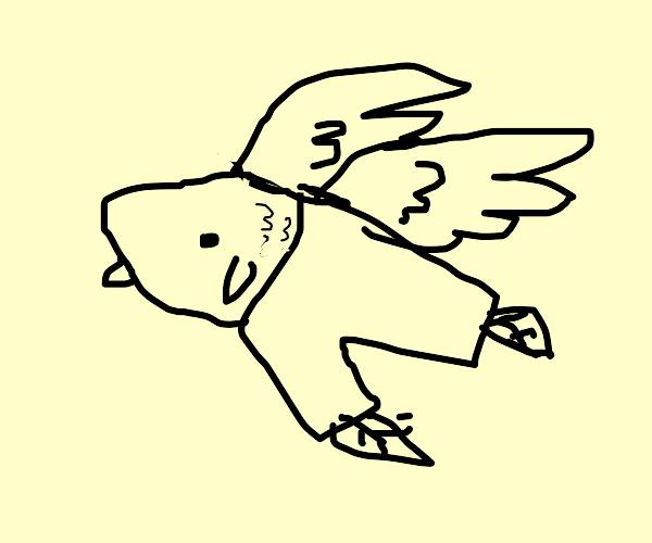 Flyingfish wearing Pants