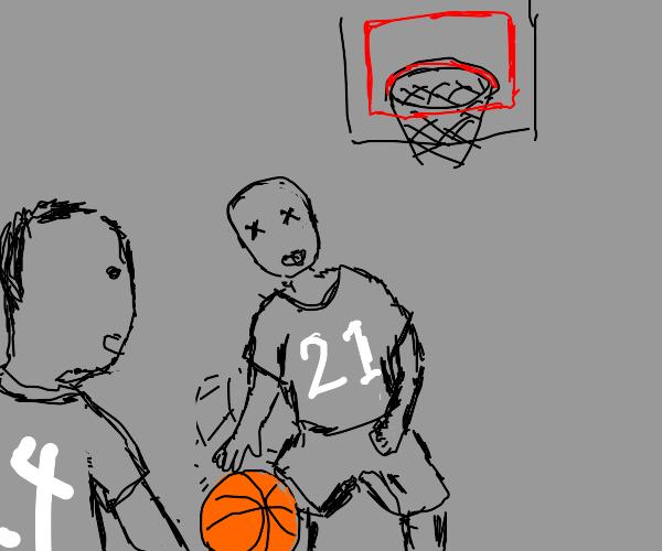 Dead Basketball player