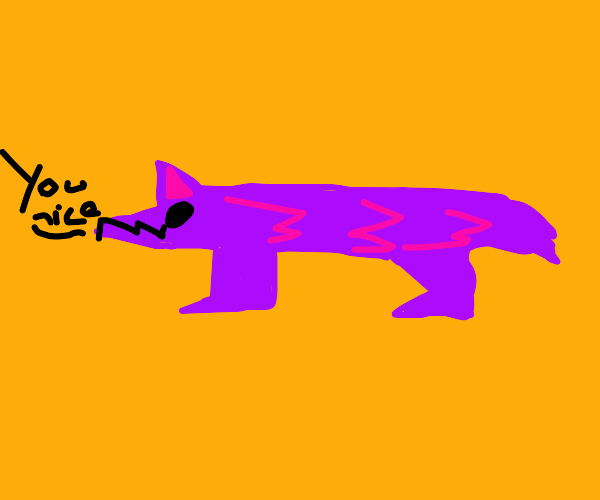 Purple wolf with antlers compliments you!
