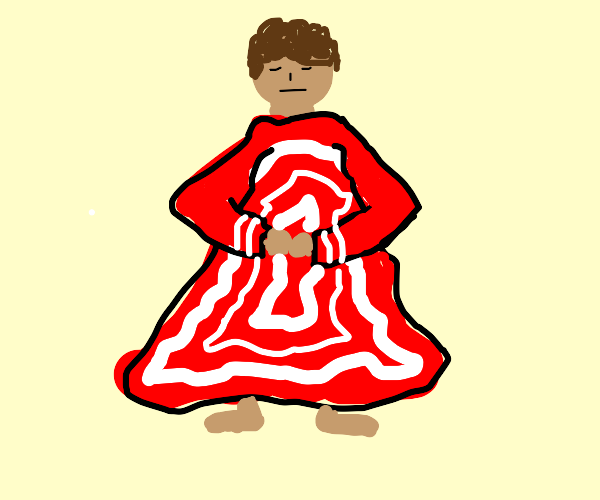 Person wearing red & white robes