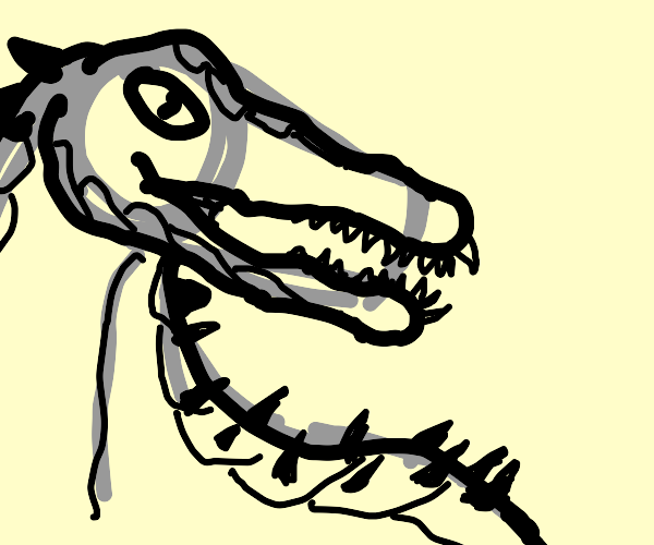 Grey dinosaur (probably theropod)