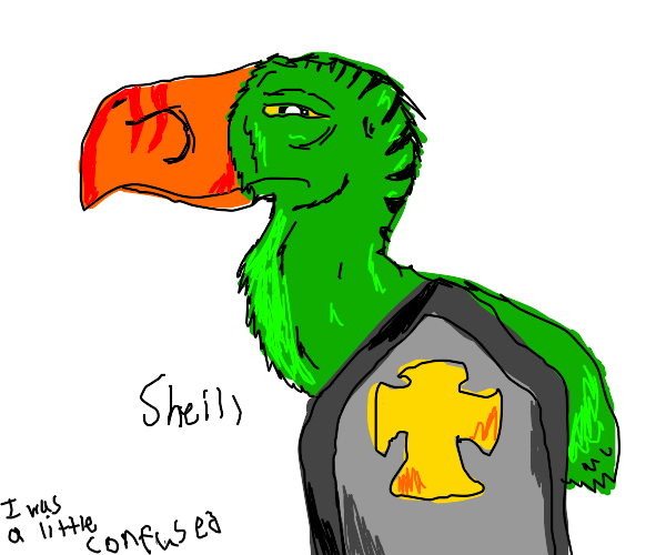 Giant green bird is shield hero