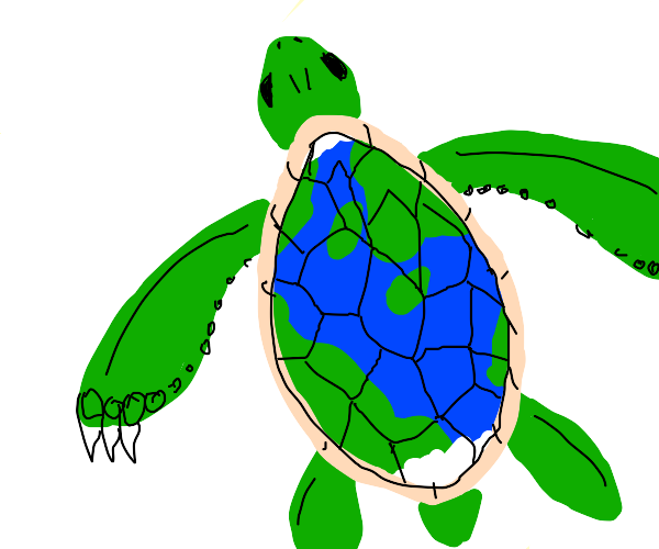 Earth as a turtle