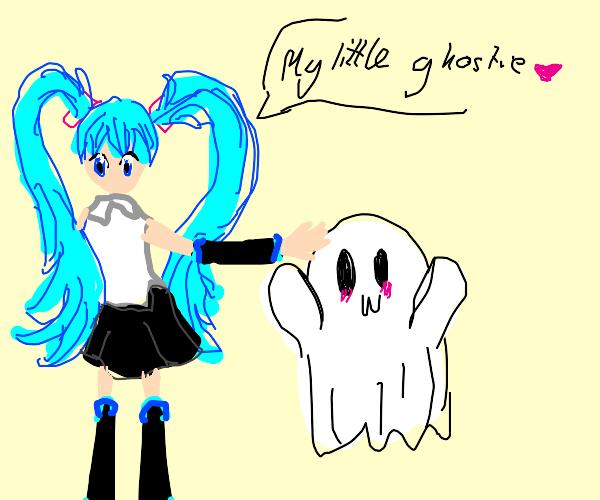 Hatsune Miku has a ghost