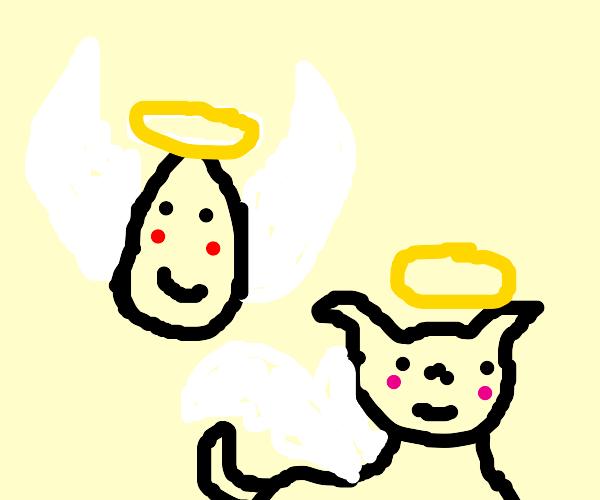 angel egg and doggo