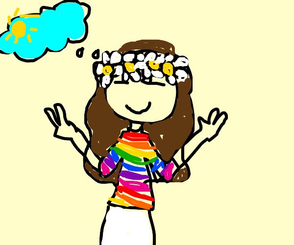 clear mind hippie girl