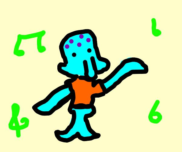 Dancing squidward