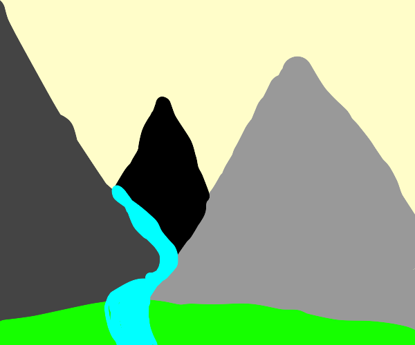 a river between mountains