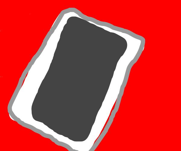 White Smartphone on red ground