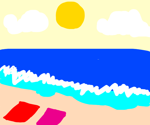 a nice day at the beach