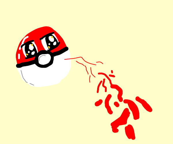 A kawaii Pokeball beams at you.