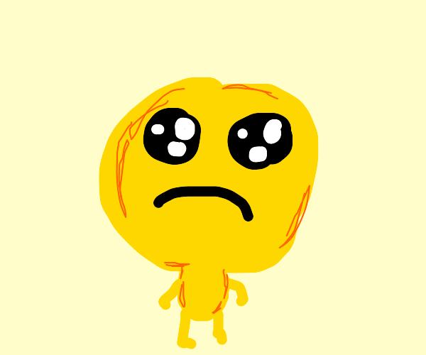 Sad emoji person