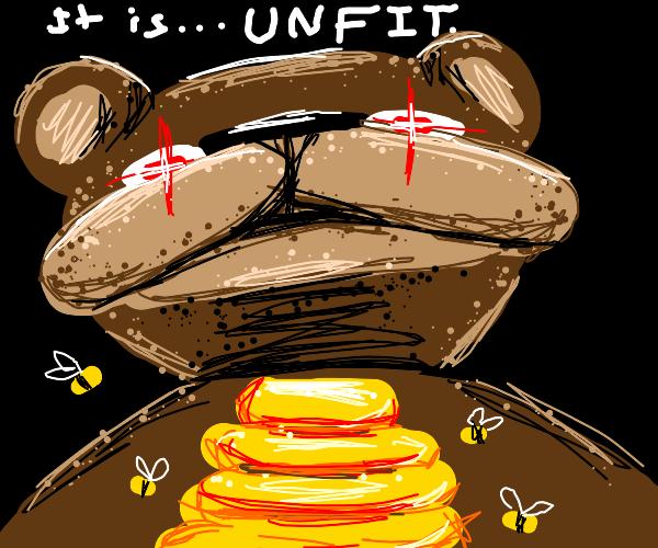 Bear deems the honey unfit