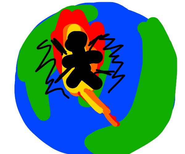 earth bakes human