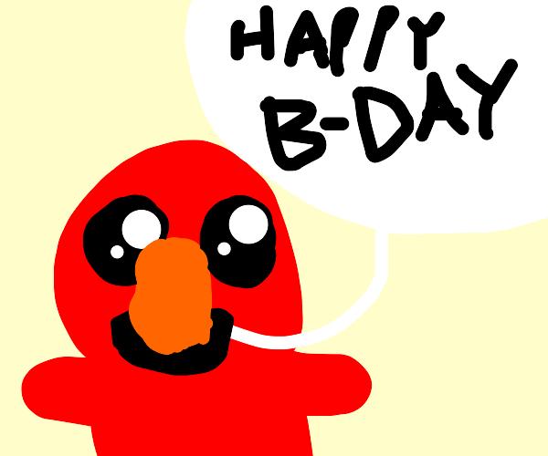 Cute Elmo celebrates your birthday :3