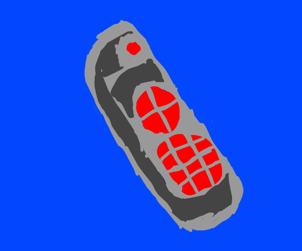 a remote control? grey w/ red buttons