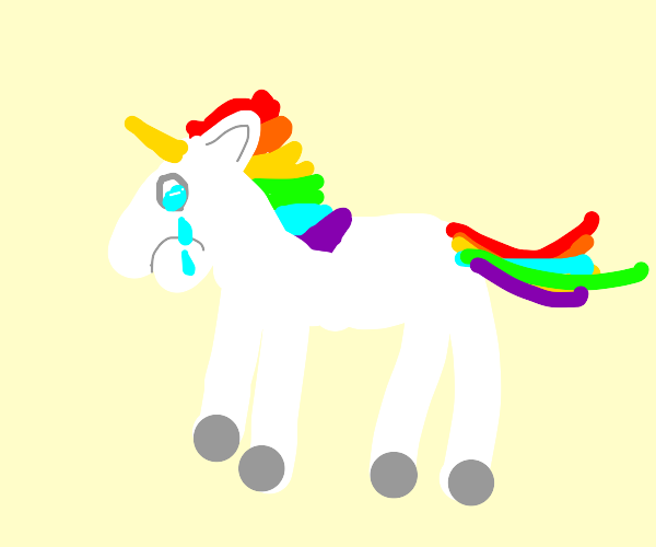 deprest rainbow unicorn