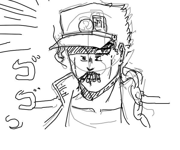 Jotaro smoking??