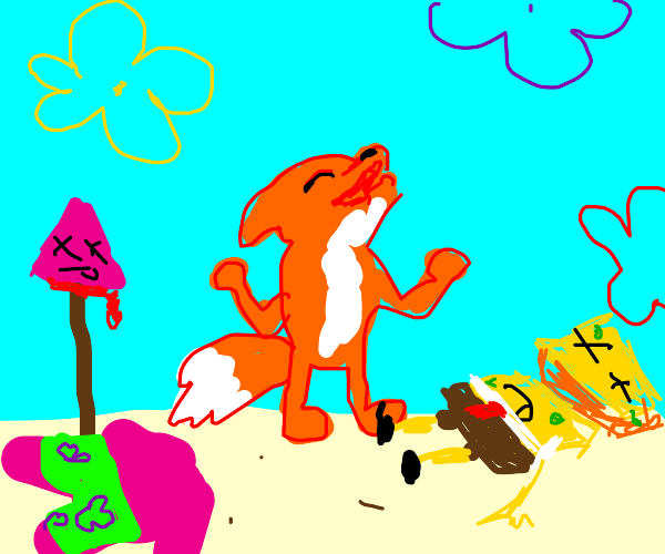 A fox murders all of bikini bottom