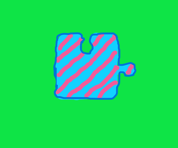 Striped puzzle piece