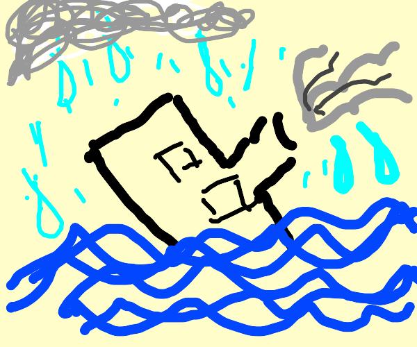It's raining on the titanic