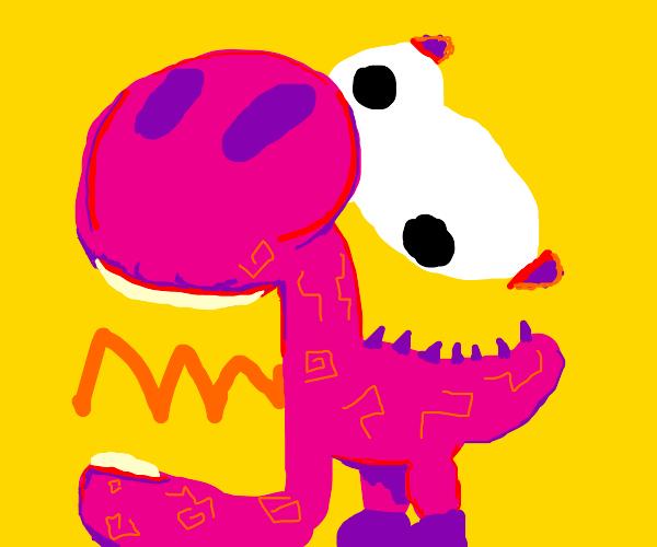 Chaotic pink Yoshi screaming