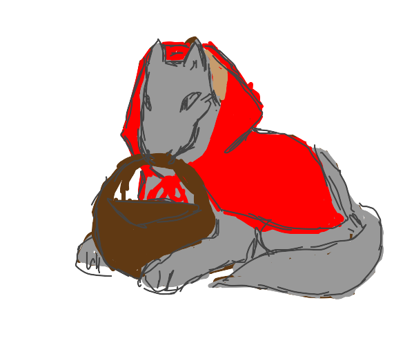 Little red riding wolf.