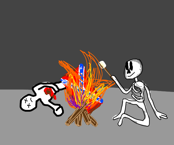 skeleton is anti confederate, a boy is shot