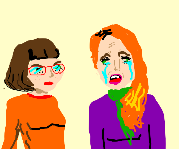 velma watches daphne ugly cry