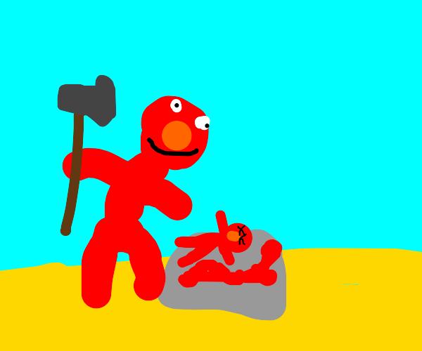 Elmo sacrifices newborns