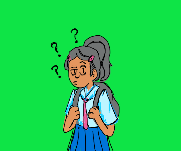 Confused schoolgirl