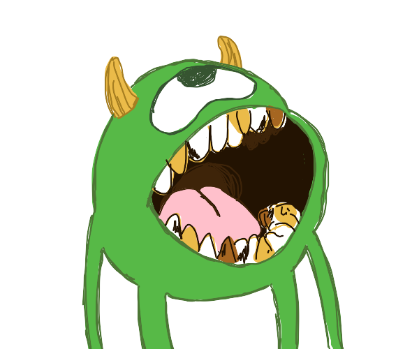 mike wazowski with cavities