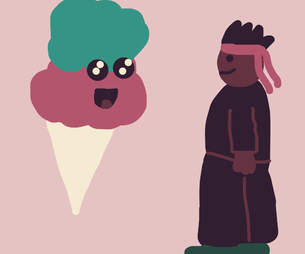 Ice cream and ninja are best friends