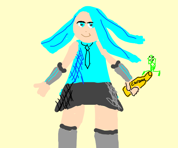 Hatsune Miku Has the Corona Virus