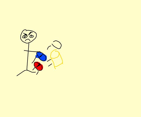 Jerk kicks blue and red pill