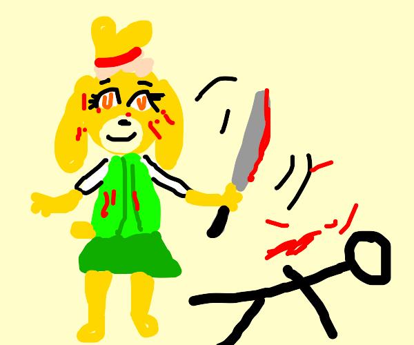 Isabelle murders Tom Nook