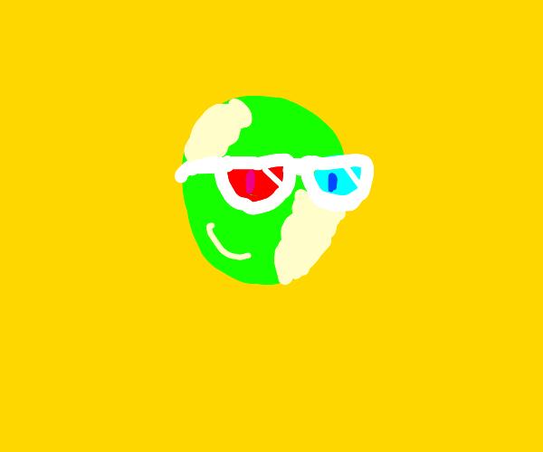 3d glasses lettuce smiles at you