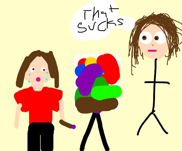 someone failed their art exam