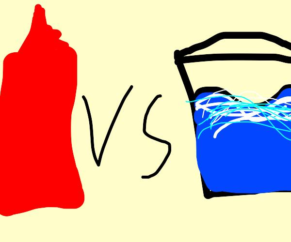 Sauce vs water