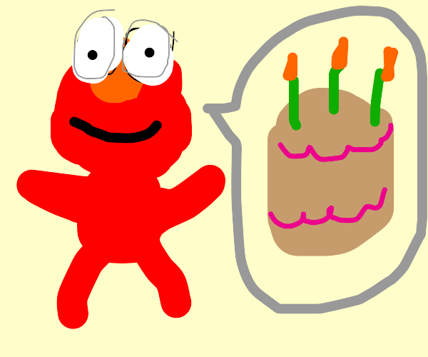 Elmo wishes you a happy B-Day
