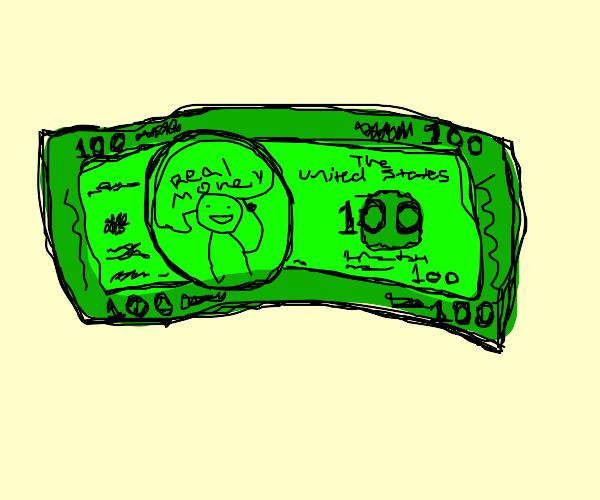 Counterfeit US 100 Dollar Note