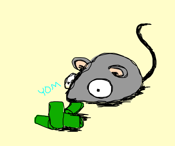 Mouse eating Green Beans