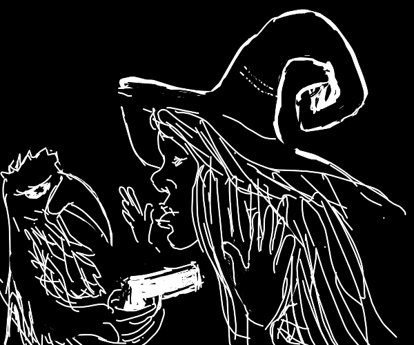 Crow shoots a witch