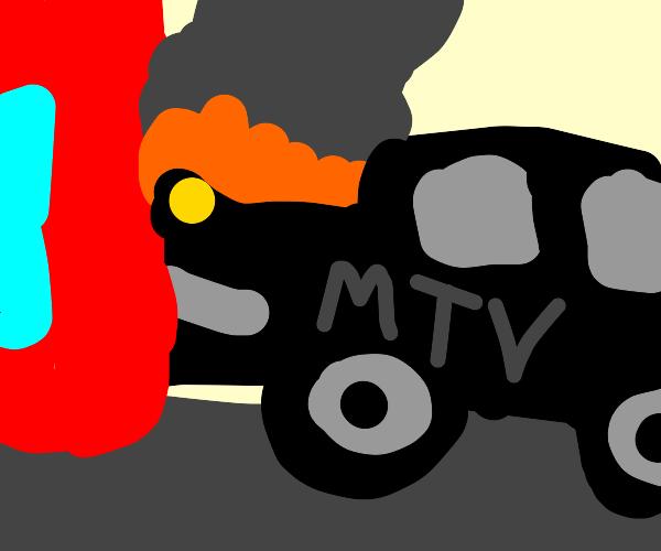 An MTV black car