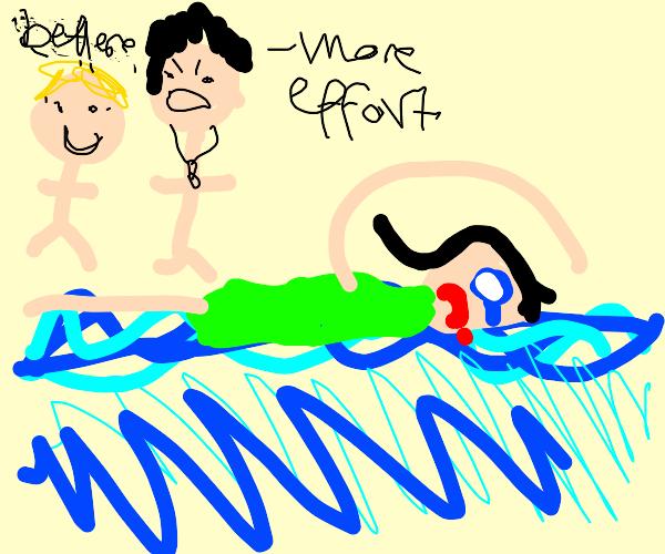 enforced swimming