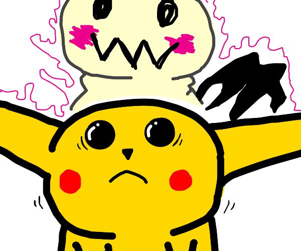 Mimikyu steals Pikachu's body