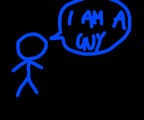 Blue guy is a guy