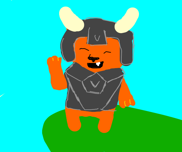Viking Cat goes to victory :D
