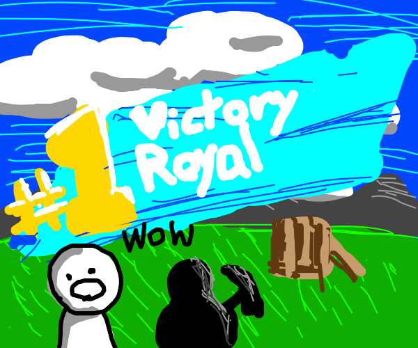 Person wins Victory Royale